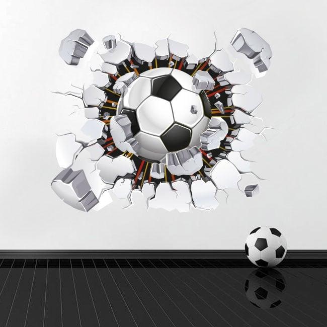 Vinilos y pegatinas balón o pelota de fútbol 3d