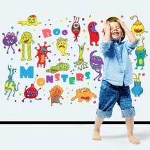 Vinilos infantiles o juveniles monstruos