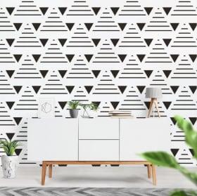 Fotomural de vinilo con triángulos y líneas