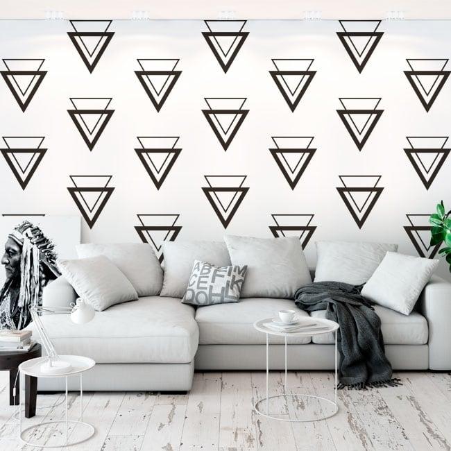 Fotomural de vinilo con triángulos