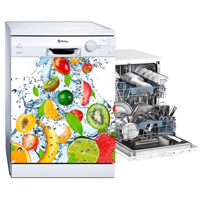 Vinilos lavavajillas frutas salpicadura agua