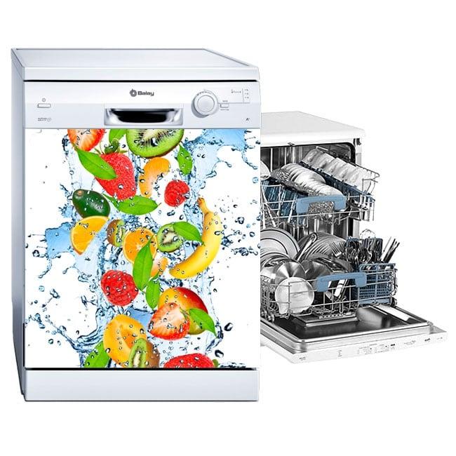 Vinilos y pegatinas lavavajillas frutas salpicadura agua