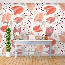 Fotomurales adhesivos con flores para decorar paredes