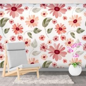 Murales de vinilos decorativos con flores