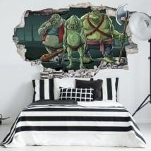 Vinilos decorativos juveniles trolls 3d