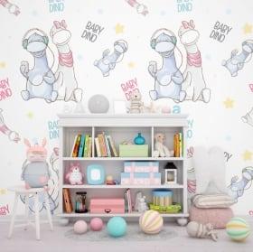 Fotomurales infantiles baby dinosaurios