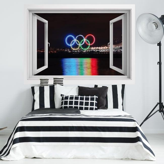 Vinilos 3d canadá ciudad vancouver juegos olímpicos