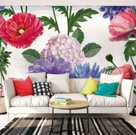 Fotomurales con flores para paredes y objetos