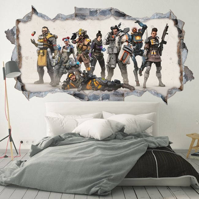 Vinilos decorativos y pegatinas apex legends 3d