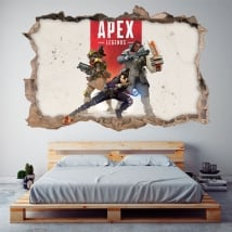 Vinilos decorativos apex legends 3d