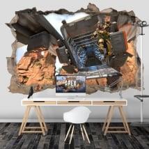 Vinilos paredes apex legends 3d