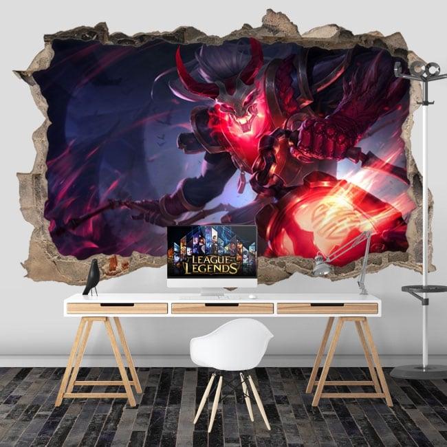 Vinilos paredes league of legends 3d