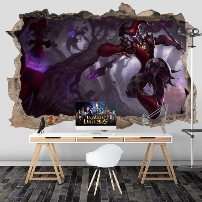 Vinilos y pegatinas videojuegos league of legends 3d