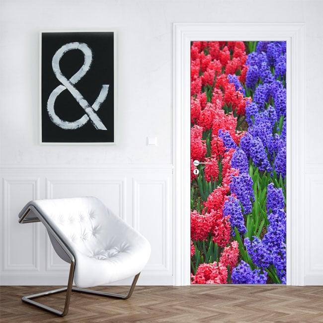 Vinilos para puertas flores jacinto