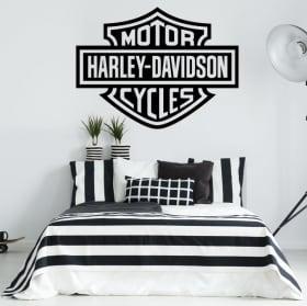 Vinilos y pegatinas logo motos harley davidson
