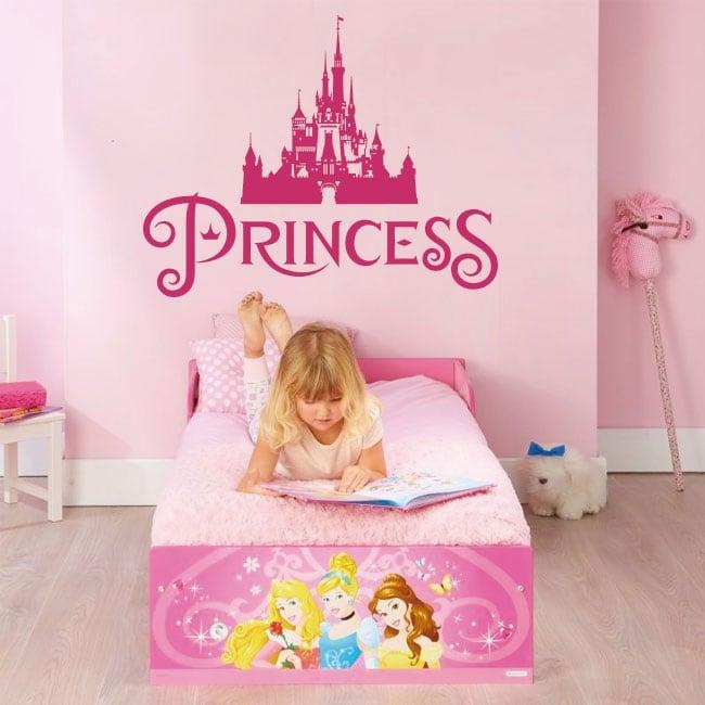 Vinilos y pegatinas princesa castillo disney