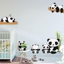 Vinilos y pegatinas infantiles osos panda