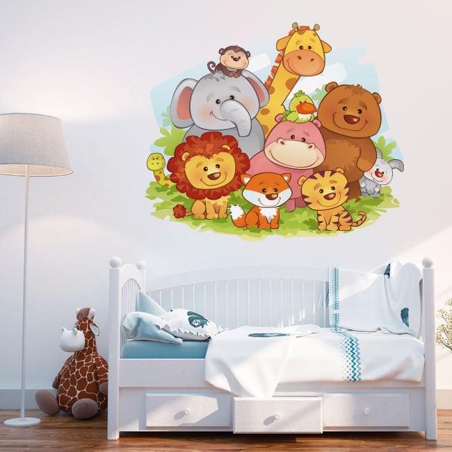 Vinilos decorativos animales infantiles para bebés