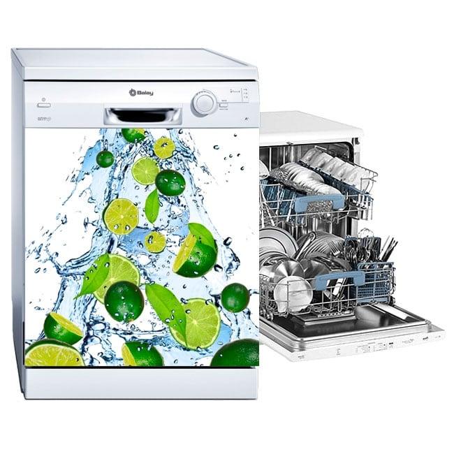 Vinilos y pegatinas lavavajillas limones salpicadura agua