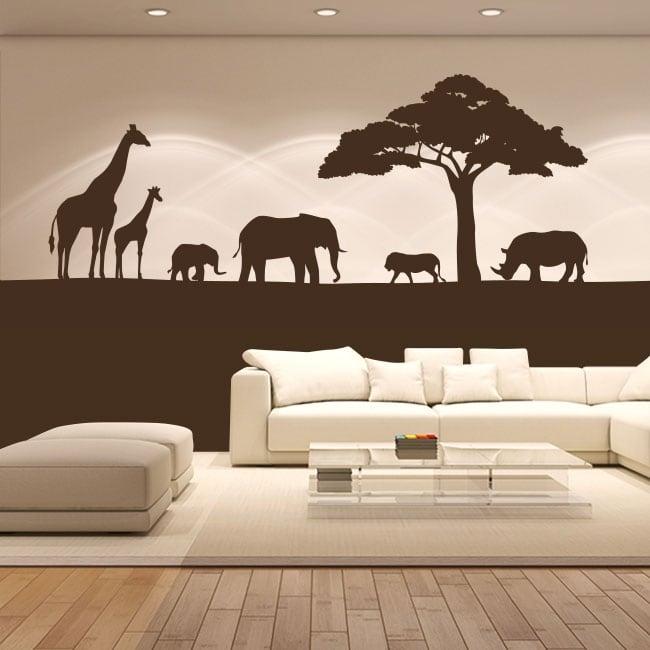 Vinilo decorativo animales de áfrica