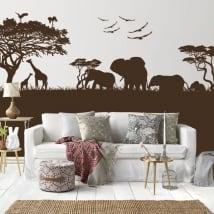 Vinilos decorativos y pegatinas de animales en áfrica