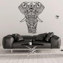 Vinilos y pegatinas elefante tribal