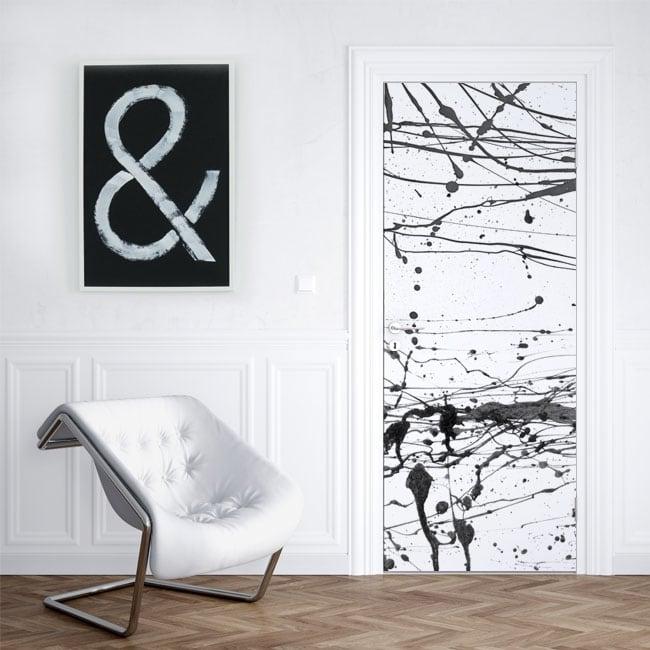 Vinilos para puertas y armarios salpicaduras pintura negra
