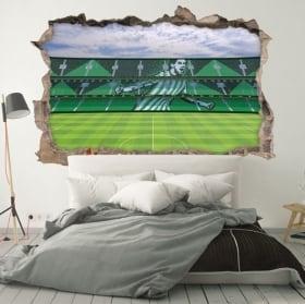 Vinilos 3d estadio de fútbol benito villamarín real betis balompié
