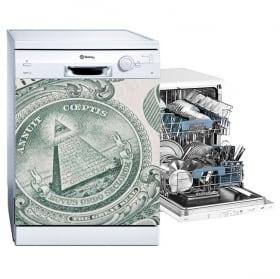 Vinilos decorativos lavavajillas dólar estados unidos