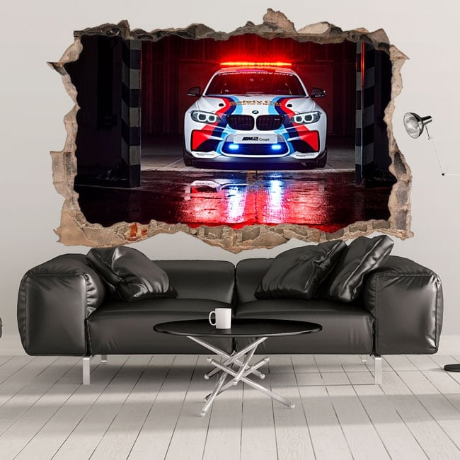 Vinilos decorativos 3d motogp bmw m2 safety car