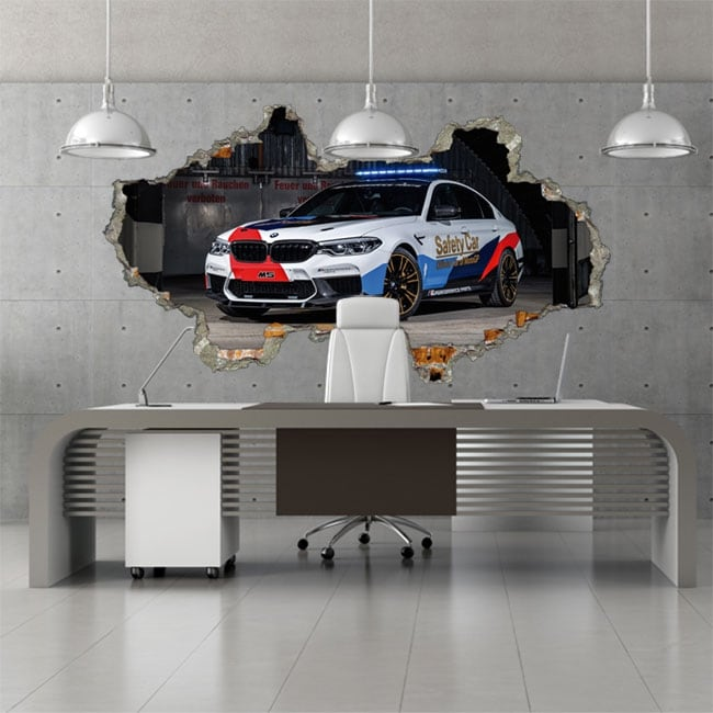 Vinilos 3d motogp bmw m5 safety car