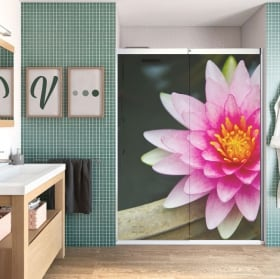Vinilos para mamparas flor de loto