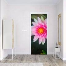 Vinilos para puertas flor de loto