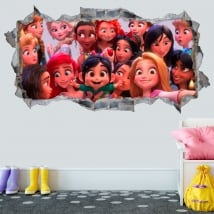 Vinilos 3d princesas disney ralph rompe internet