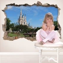 Vinilos 3d castillo walt disney world
