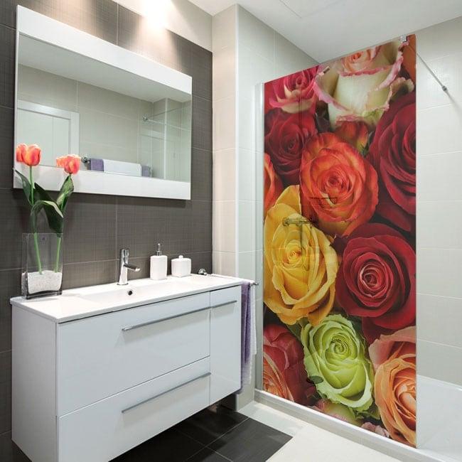 Vinilos para mamparas rosas de colores