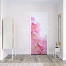 Vinilos para puertas flor de cerezo japonés