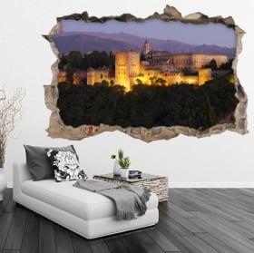 Vinilos 3d la alhambra ciudad de granada españa