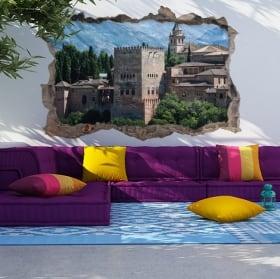 Vinilos y pegatinas 3d la alhambra ciudad de granada