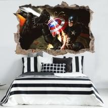Vinilos y pegatinas 3d capitán américa civil war
