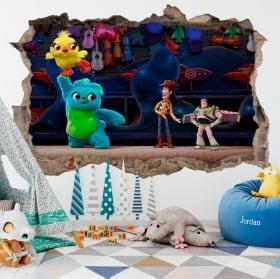 Vinilos infantiles 3d toy story 4