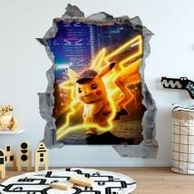 Vinilos 3d pokémon detective pikachu
