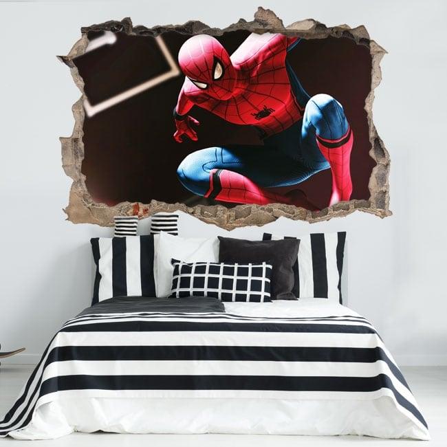 Vinilos 3d spiderman o hombre araña