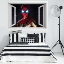 Vinilos ventana 3d spider-man lejos de casa