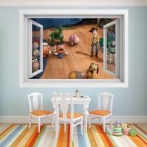 Vinilos infantiles ventana 3d toy story 4