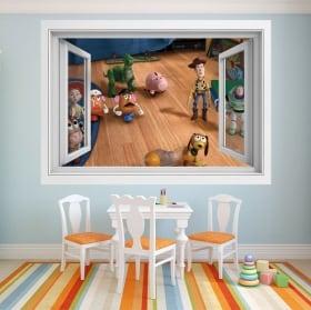 Vinilos infantiles ventana toy story 4