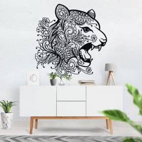 Vinilos y pegatinas cabeza de tigre tribal