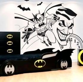 Pegatinas de vinilos decorativos batman y joker