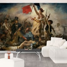 Fotomurales eugène delacroix la libertad guiando al pueblo