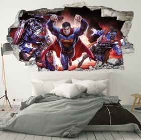 Vinilos pared 3d superman crisis infinita